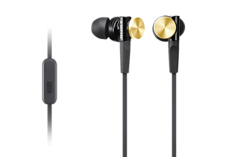 SONY MDR-XB70AP In-Ohr-Headsets-Kopfhörer, Extra Bass, Aluminum Gehäuse, Gold, In-ear Headset, Gold