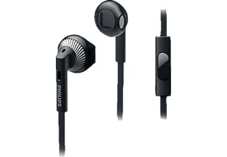 PHILIPS SHE3205BK/00, In-ear Headset, Schwarz