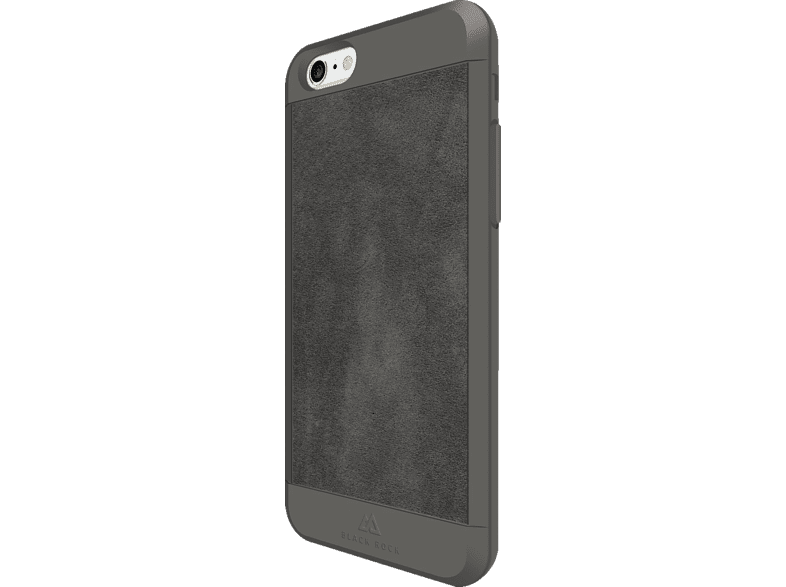 BLACK ROCK Suede Backcover Apple iPhone 6, 6s Kunststoff/Echtleder/Polycarbonat/Thermoplastisches Polyurethan Grau