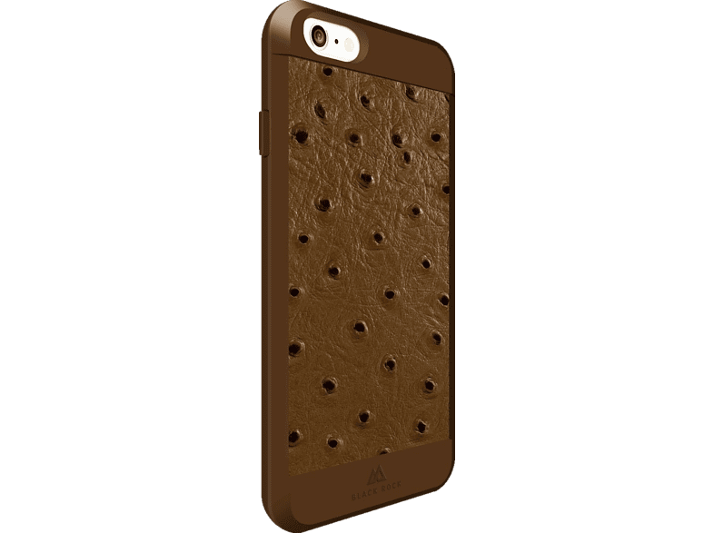 BLACK ROCK Ostrich , Backcover, Apple, iPhone 6, iPhone 6s, Kunststoff/Echtleder/Polycarbonat/Thermoplastisches Polyurethan, Hellbraun