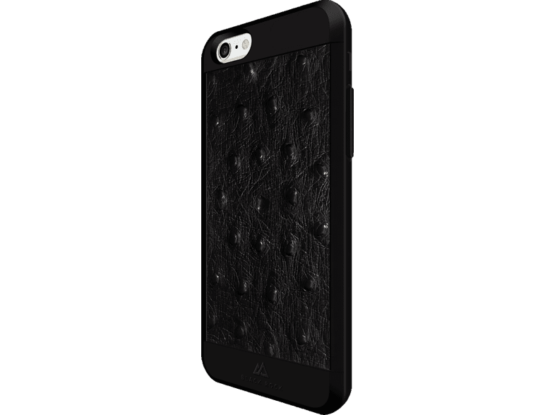 BLACK ROCK Ostrich , Backcover, Apple, iPhone 6, iPhone 6s, Kunststoff/Echtleder/Polycarbonat/Thermoplastisches Polyurethan, Schwarz