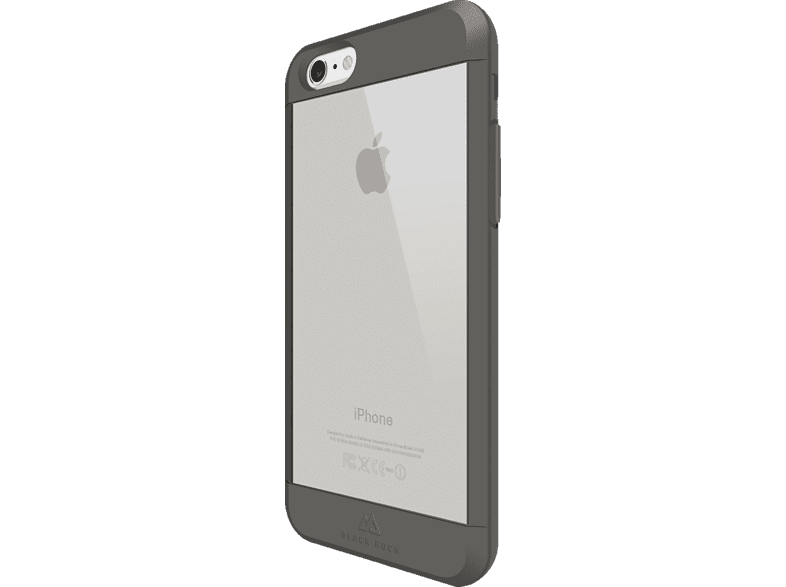 BLACK ROCK Material Backcover Apple iPhone 6, iPhone 6s Kunststoff/Polycarbonat/Thermoplastisches Polyurethan Grau