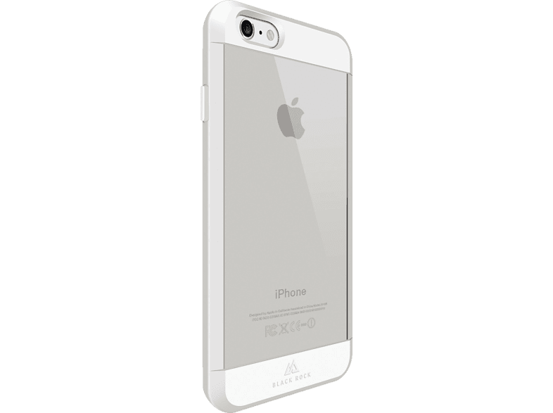 BLACK ROCK Material Backcover Apple iPhone 6, iPhone 6s Kunststoff/Polycarbonat/Thermoplastisches Polyurethan Weiß