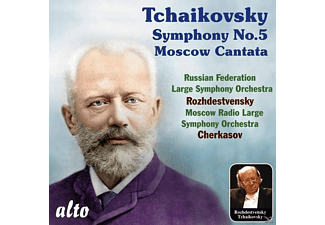 Russian Federation Large Symphony Orchestra, Moscow Radio Large Symphony Orchestra - Tschaikowsky Sinf.5/Cantata - (CD)