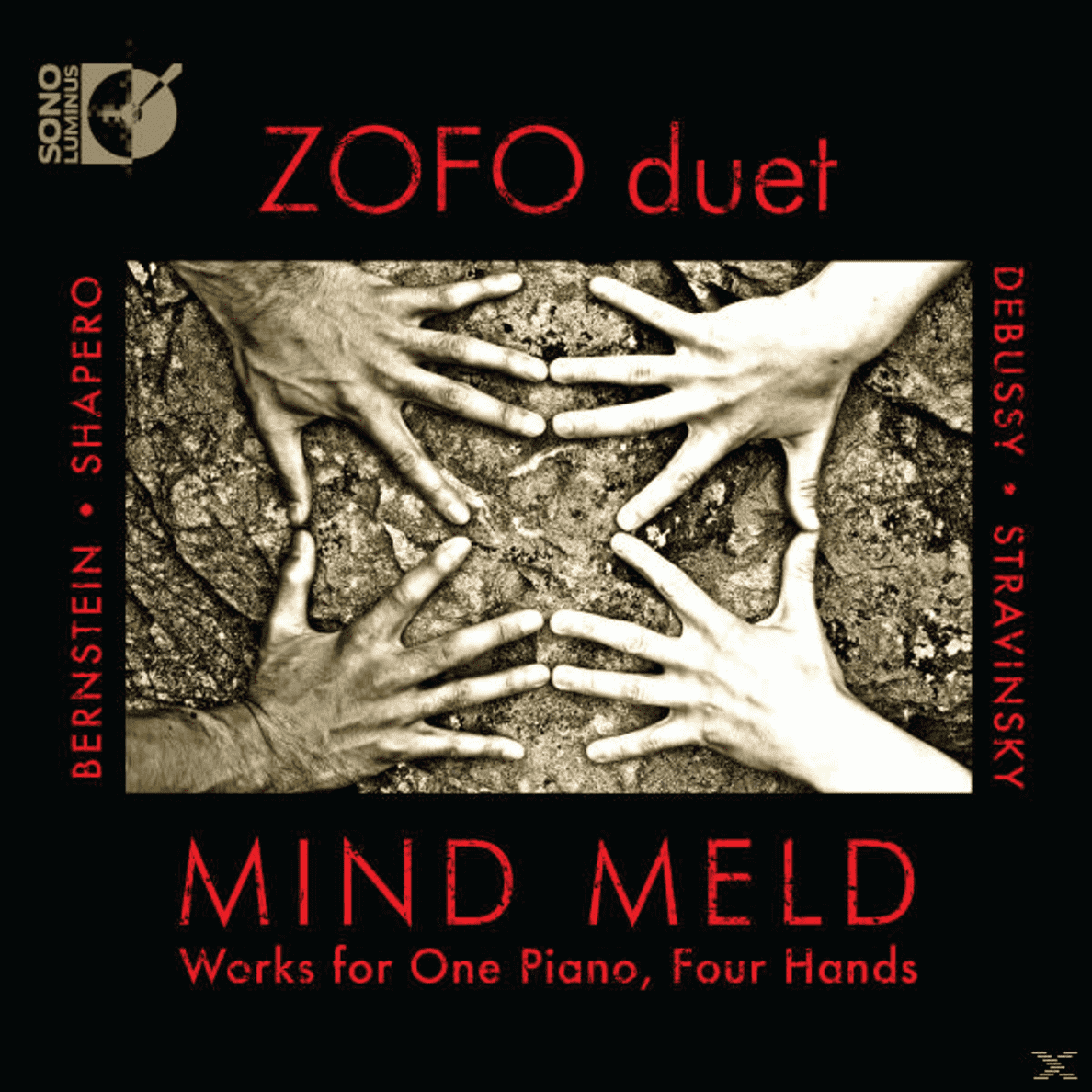 Werks for One Piano, Four Hands Mind Meld, Zofo Duet auf CD