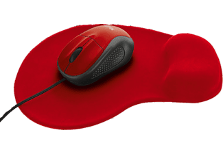 TRUST Primo Mouse with mouse pad Red - (20427)