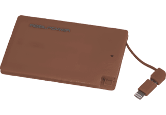 REALPOWER PB-2500 Slim, Powerbank, 2500 mAh, Marsala