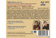 Raphael Wallfisch, BBC Concert Orchestra, Barry Wordsworth, Philippe Graffin - Cellokonzert Op.32 / Sinfonia Concertante Op.29 [CD]