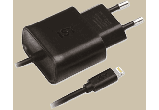 ISY Travel Charger with Lightning 2.4A Black - IWC-4100