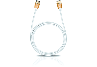 OEHLBACH 42521, High Speed HDMI Kabel, 2500 mm, Weiß