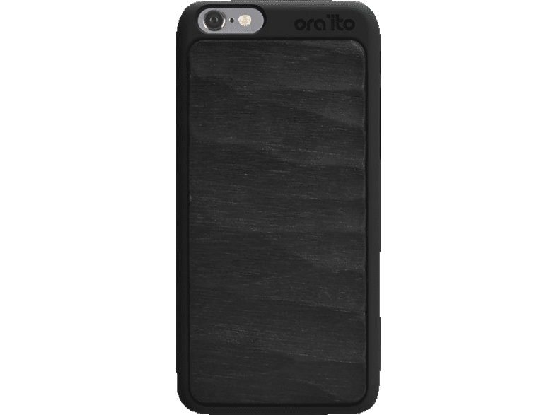 ORA ITO Wood Cover Ita , Backcover, Apple, iPhone 6, iPhone 6S, Schwarz