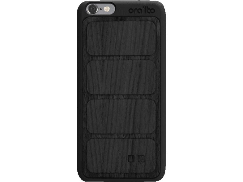 ORA ITO Wood Cover Ita Backcover Apple iPhone 6, iPhone 6S  Schwarz