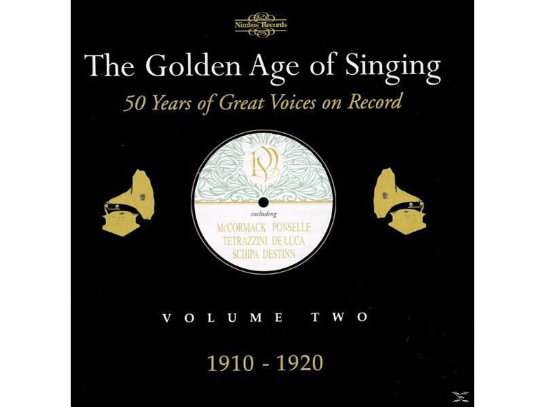VARIOUS - The Golden Age of Singing Vol.2,1910-1920 [CD]