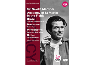 Academy of St. Martin in the Fields, Anthony Rolfe-johnson - Concerto Grosso / Große Fuge / Symphony No. 4 / Les Illuminations - (DVD)