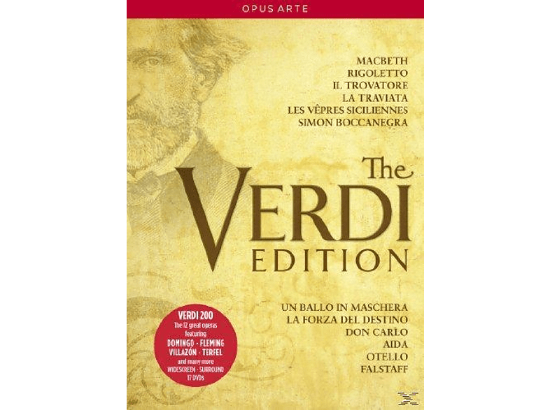 VARIOUS, Various Orchestras - The Verdi Edition [17 Dvd's] [DVD]