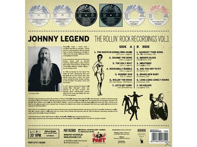 John Legend - THE ROLLIN ROCK RECORDINGS 1 [Vinyl]