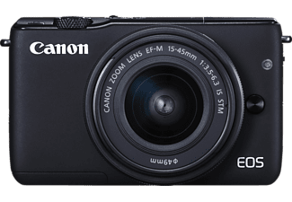 CANON EOS M10 STM Kit Systemkamera 18 Megapixel mit Objektiv 15-45 mm f/3.5-6.3, 7.5 cm Display   Touchscreen