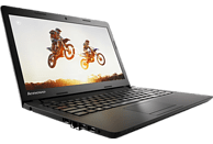 LENOVO ideapad 100-14, Notebook, Celeron Prozessor, 500 GB HDD, Intel HD Graphics, Schwarz