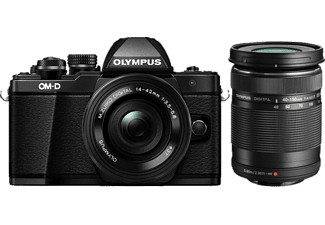 OLYMPUS E-M10 Mark II Double Kit EZ-M 14-42mm EZ+40-150mm R Black - (V207053BE000)