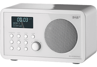 SCANSONIC DA200 Digitalradio (FM, DAB+, Weiß)