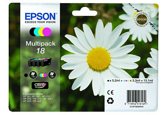 Cartucho tinta - Epson Multipack 18 pack, 4 colores