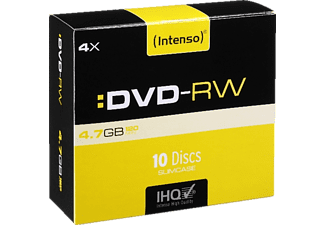 INTENSO 4201632 DVD-RW Rohlinge 10er Pack Slim Case
