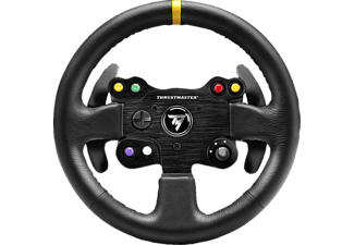 THRUSTMASTER Leather 28 GT Wheel AddOn (PS4 / PS3 / Xbox One / PC), Lenkrad AddOn, Schwarz