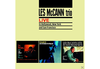 Les Mccann Trio - Live In Hollywood, New York And San Francisco/+ - (CD)