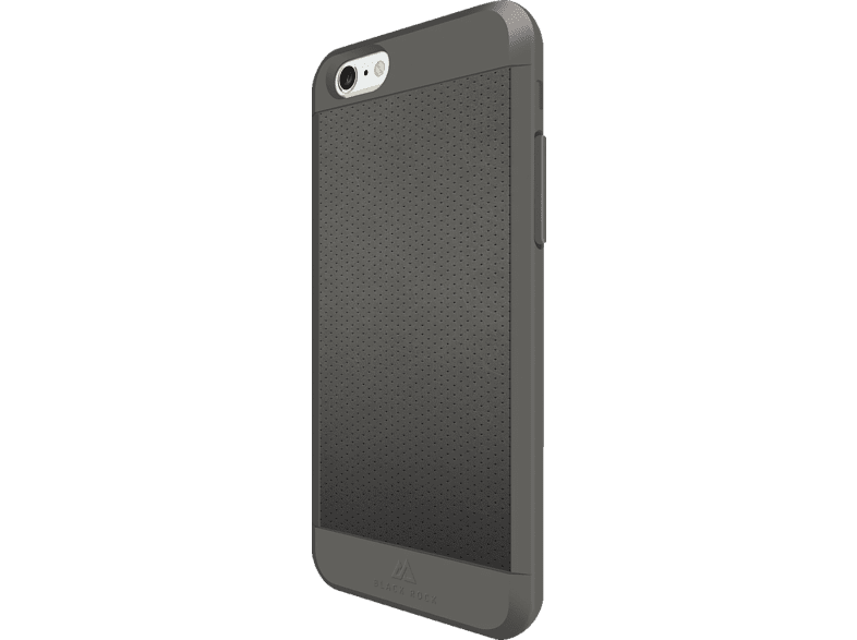 BLACK ROCK Mesh , Backcover, Apple, iPhone 6, iPhone 6s, Kunststoff/Echtleder/Polycarbonat/Thermoplastisches Polyurethan, Grau