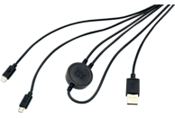 ISY IC-601 , PS4 Dual Charging Kabel, Schwarz