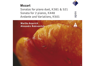 Martha Argerich, Alexandre Rabinovitch - Sonatas For Piano Duet/Sonata For 2 Pianos/Andante And Variations - (CD)
