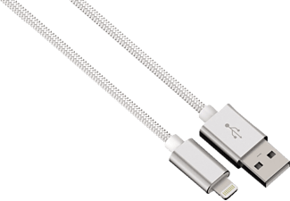 HAMA Color Line Lightning-/USB-Kabel, passend für Apple iPhone, iPad, iPod, Weiß