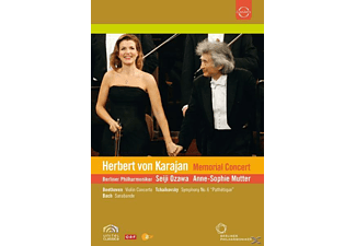 Seiji Ozawa, Anne-Sophie Mutter, Berliner Philharmoniker - Karajan Memorial Concert - (DVD)