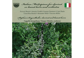 Stephan Siegenthaler, Cappella Istropolitana - Italian Masterpieces For Clarinet Or Basset Horn And Orchestra - (CD)