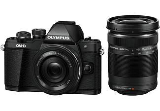 OLYMPUS Hybride camera E-M10 Mark II + 14-42mm Pancake + 40-150mm (V207053BE000)