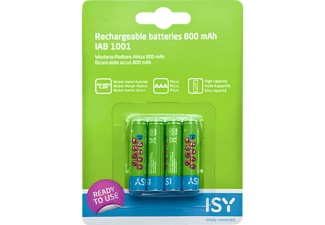 ISY Piles AAA rechargeables 800 mAh 4 pièces (IAB-1001)