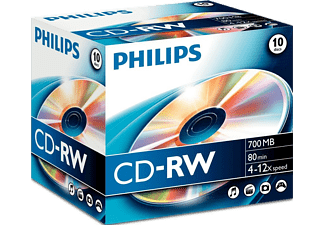 PHILIPS Pack 10 CD-RW 700 MB 12 X (CW7D2NJ10/00)