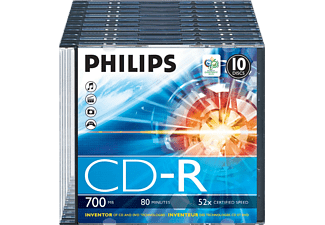 PHILIPS Pack 10 CD-R 700 MB 52 x (CR7D5NS10/00)