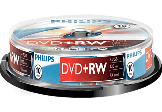 PHILIPS Pack 10 DVD+RW 4.7 GB 4x (DW4S4B10F/10)
