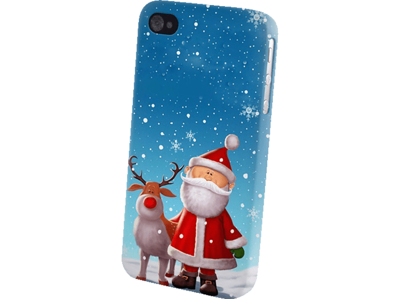 AGM 26111 , Backcover, Apple, iPhone 5/5s, Kunststoff, Weihnachtsmann