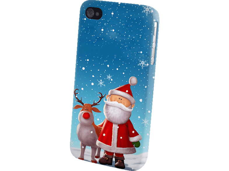 AGM 26110 , Backcover, Apple, iPhone 4/iPhone 4s, Kunststoff, Weihnachtsmann