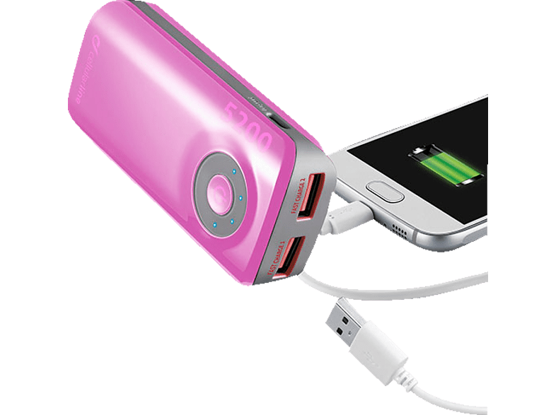 CELLULAR LINE  37125 Free Power Powerbank 5200 mAH Pink | 08018080250941