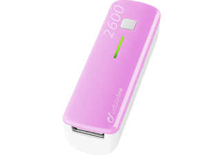 CELLULAR LINE 37130 Pocket, Powerbank, 2600 mAH, Pink