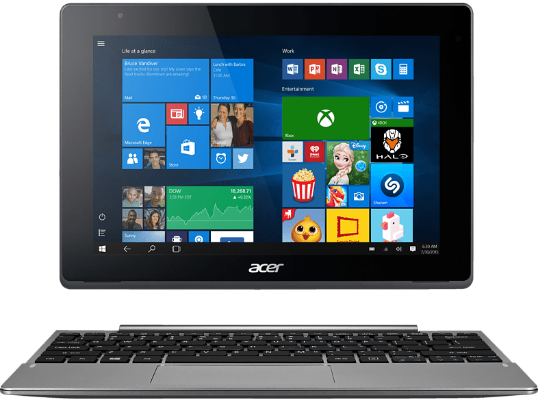 ACER Aspire Switch 10 V SW5-014-16XR, Convertible , 32 GB, LTE, 10.1 Zoll, Silber