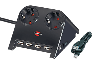 BRENNENSTUHL Desktop-Power-Plus USB-hub zwart