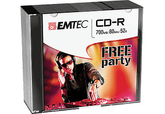 EMTEC Pack 10 CD-R 700 MB 52 x Slim