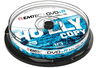 EMTEC Pack 10 DVD-R 4.7 GB 16x Cakebox
