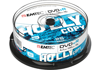 EMTEC Pack 25 DVD+R 4.7 GB 16x Cakebox
