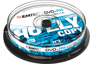 EMTEC Pack 10 DVD+RW 4.7 GB 4 x Cakebox