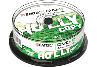 EMTEC Pack 25 DVD-R 4.7 GB 16x Cakebox (ECOVR472516CB)